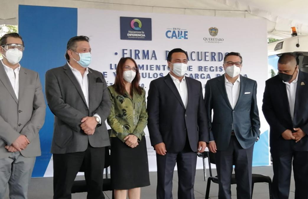 FIRMAN DE ACUERDO, LINEAMIENTOS DE REGISTRO DE  VEHICULOS DE CARGA PESADA DE QUERÉTARO