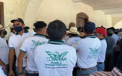 CONATRAM PUEBLA DENUNCIA ACTOS DE CORRUPCIÓN EN HUEJOTZINGO