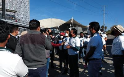 CONATRAM PUEBLA SE MANIFIESTA, NO PARA LA INSEGURIDAD Y LA CORRUPCIÓN